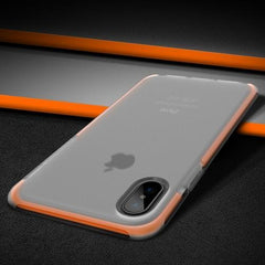 Phone Accessories Case Orange Anti-knock Case for iPhone X, Heavy Duty Protection