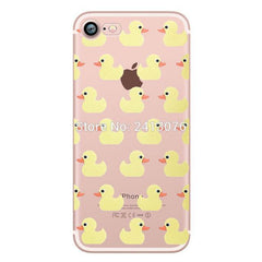 Phone Accessories Case pattern 5 / For iphone 7 Phone cases Animals cats and dogs duck Clear soft silicon For iphone 7 6 6S 8 plus 5S SE X