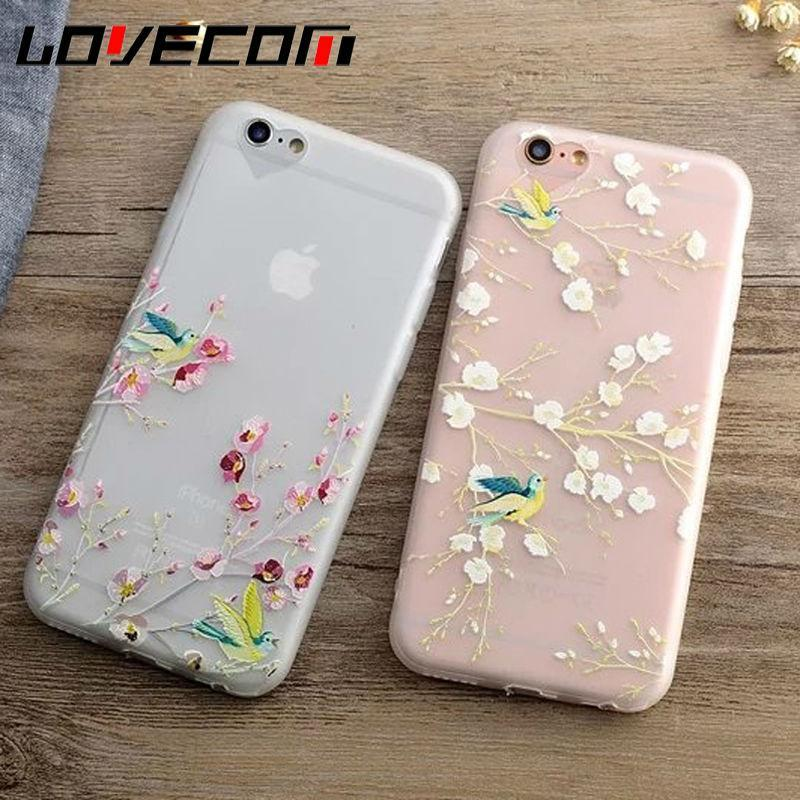 Phone Accessories Case Phone Case For iPhone  SE  New Spring Blossoms Magpie Animal Cartoon Frosted Soft