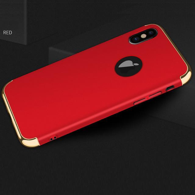 Phone Accessories Case red / for iphone x Luxury hard plastic case for iphone X