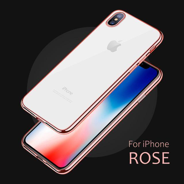 Phone Accessories Case Rose / for iPhone 6 6s Luxury Phone Bags Case for iPhone  7 Plus,Cover Fashion TPU Transparent Soft Silicone Full Covers