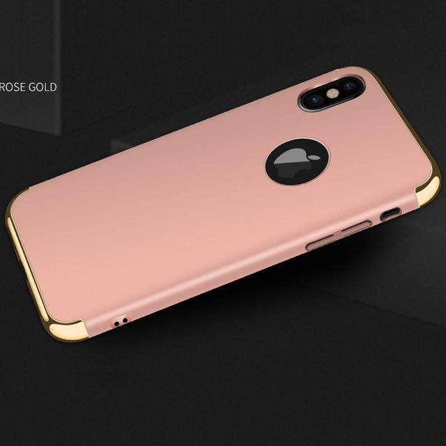 Phone Accessories Case Rose gold / for iphone x Luxury hard plastic case for iphone X
