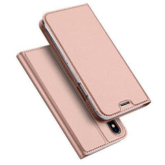 Phone Accessories Case Rose Gold / For iPhone X Luxury PU Leather Phone Case for iPhone X Flip Cover Wallet