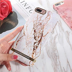 Phone Accessories Case White / For iPhone 6Plus 6SP Glossy Marble Phone Case For iPhone 6  Fashion Gold Bar Classical Marbles