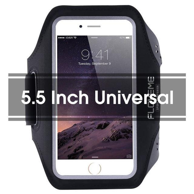 Phone Accessories Lux Armbands Black 1 FLOVEME Running Sport Waterproof Armband For iPhone 7 6 6s Plus Case For Samsung 4.7 5.5 Inch Universal Nylon Phone Bag Shells