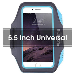 Phone Accessories Lux Armbands Blue 1 FLOVEME Running Sport Waterproof Armband For iPhone 7 6 6s Plus Case For Samsung 4.7 5.5 Inch Universal Nylon Phone Bag Shells