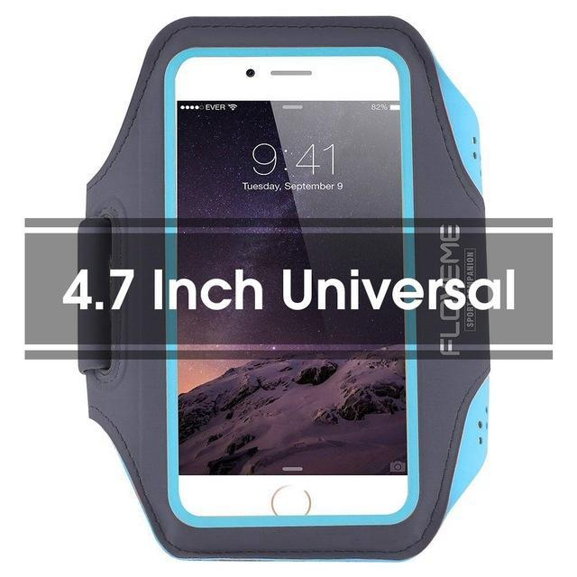 Phone Accessories Lux Armbands Blue FLOVEME Running Sport Waterproof Armband For iPhone 7 6 6s Plus Case For Samsung 4.7 5.5 Inch Universal Nylon Phone Bag Shells