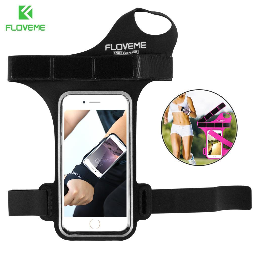 Phone Accessories Lux Armbands FLOVEME Sports Armband For Samsung Galaxy S8 S7 Thumb Arm Band Xiaomi 6 Mi6 Running Sports Mobile Phone Armband For Huawei P10
