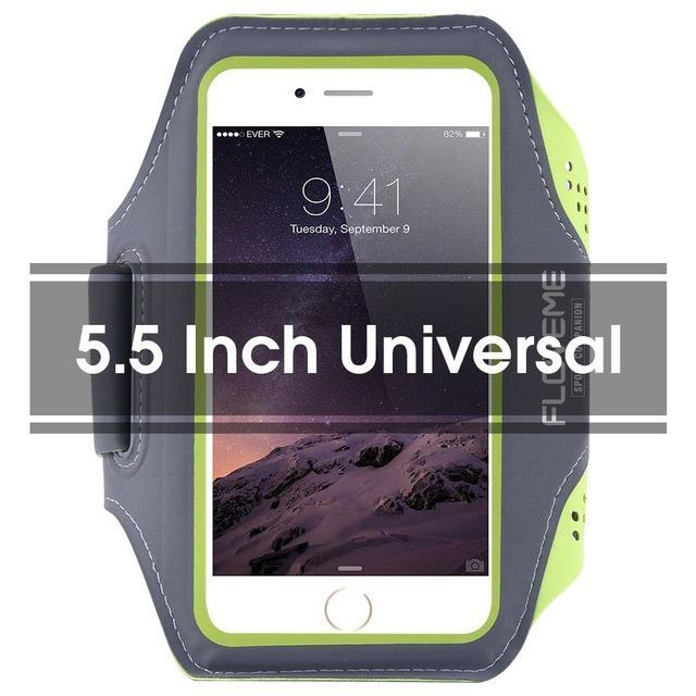 Phone Accessories Lux Armbands Green 1 FLOVEME Running Sport Waterproof Armband For iPhone 7 6 6s Plus Case For Samsung 4.7 5.5 Inch Universal Nylon Phone Bag Shells