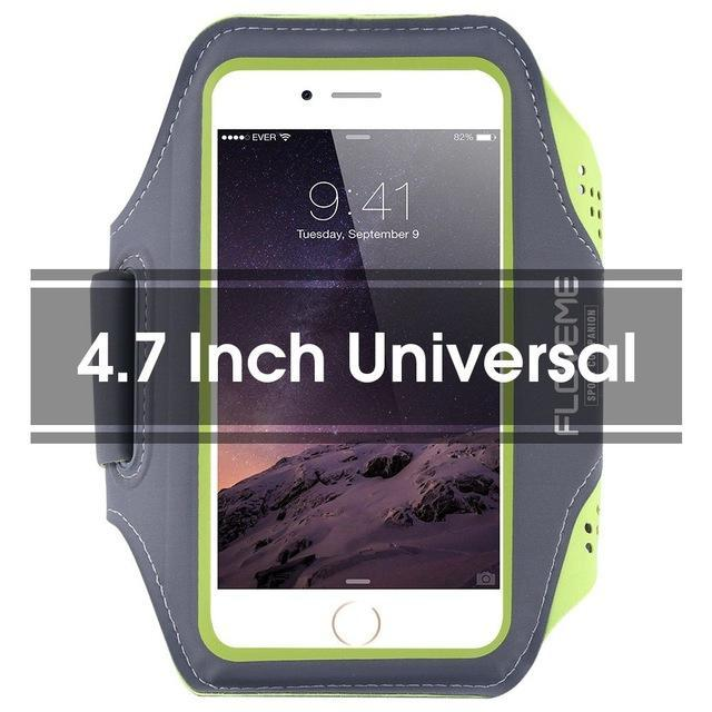 Phone Accessories Lux Armbands Green FLOVEME Running Sport Waterproof Armband For iPhone 7 6 6s Plus Case For Samsung 4.7 5.5 Inch Universal Nylon Phone Bag Shells