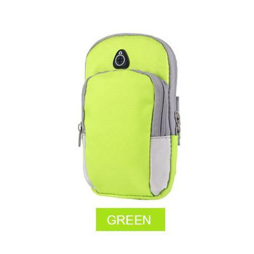 Phone Accessories Lux Armbands Green Sports Running Armband Bag Case Cover Running armband Universal Waterproof Sport mobile phone Holder Outdoor Sport Phone Arm pou