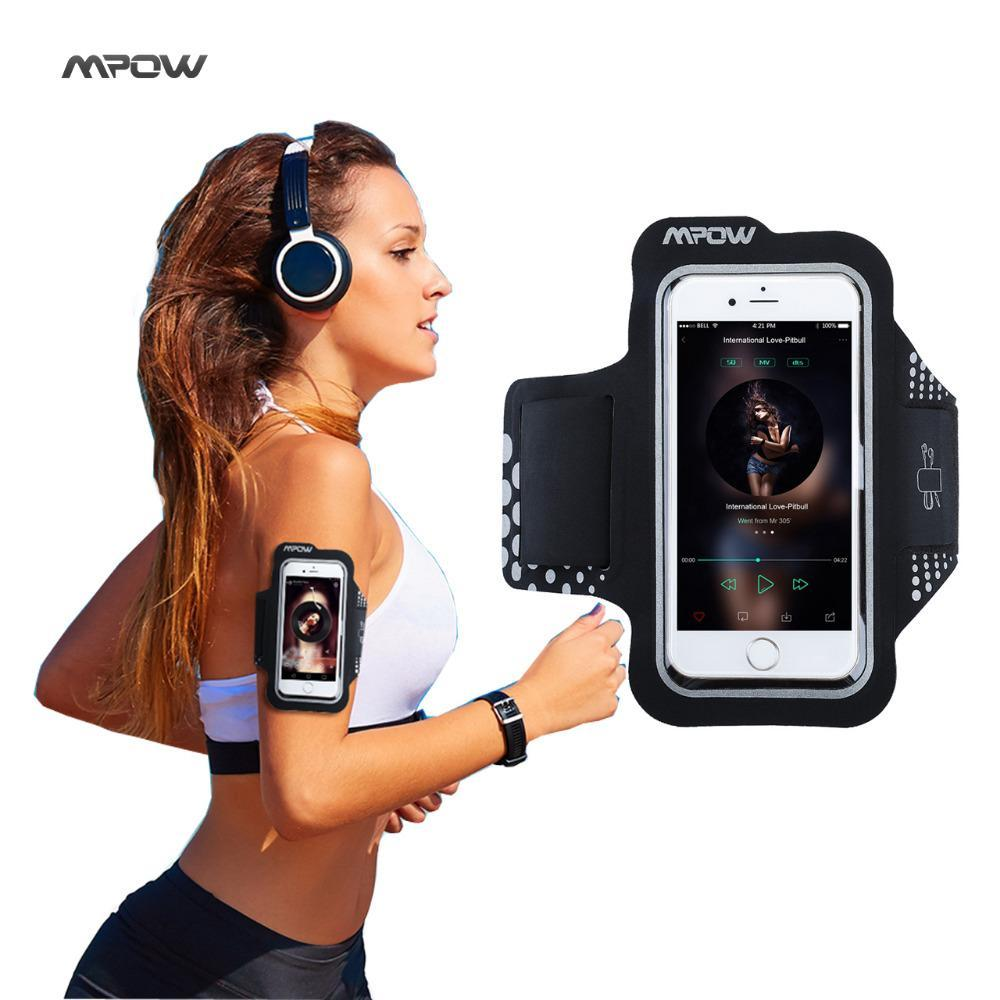 Phone Accessories Lux Armbands Mpow Sweatproof Exercise Running Sport Armband for iPhone 5S 6s/6 Samsung Galaxy S7 S6, Xiaomi Huawei P9 Black Sport Phone Cases