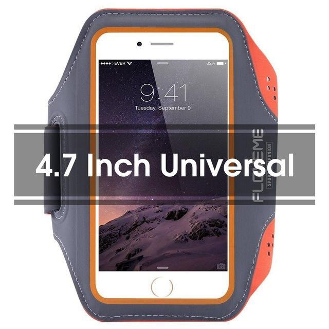 Phone Accessories Lux Armbands Orange FLOVEME Running Sport Waterproof Armband For iPhone 7 6 6s Plus Case For Samsung 4.7 5.5 Inch Universal Nylon Phone Bag Shells