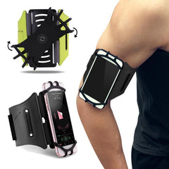 Phone Accessories Lux Armbands ROCK 180 Rotation Sport Phone Armband Waterproof Running Arm Case Bag Belt Key Holder Pouch for Samsung For iPhone 7 4~6 Inch