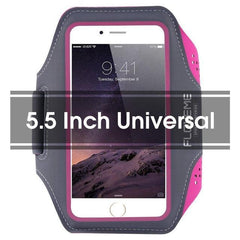 Phone Accessories Lux Armbands RoseRed 1 FLOVEME Running Sport Waterproof Armband For iPhone 7 6 6s Plus Case For Samsung 4.7 5.5 Inch Universal Nylon Phone Bag Shells