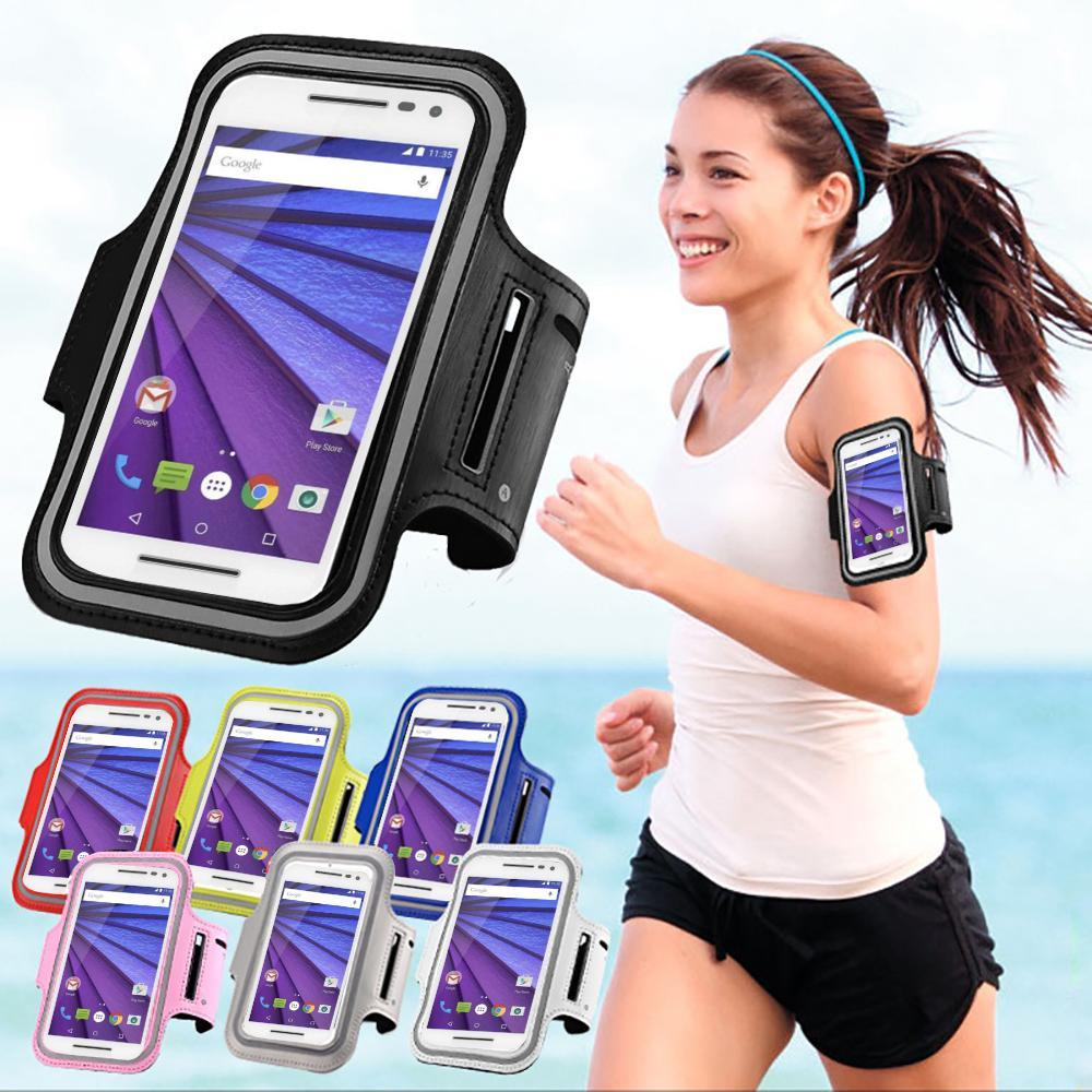 Phone Accessories Lux Armbands Running Sport Gym Armband Bag Case For Moto X Style/G4 G4 Plus/X play/X Force/X2/XT1254 Jogging Arm Band Mobile Phone Belt Cover