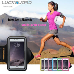 "Phone Accessories Lux Armbands Sport Armband Case Cover  For iPhone 6 s Plus Samsung Galaxy S6 S7 Edge J7 P8lite 5.5"" Universal Waterproof Running Arm Ban"