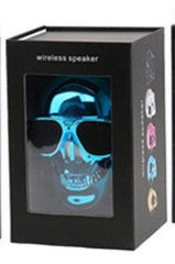 Phone Accessories Lux BLUETOOTH & WIRELESS SPEAKERS with retail box 1 TEAL Skull Bluetooth Speaker Wireless Compact Skull Head Portable speaker 8W NFC Audio Rechargeable Battery Music Player