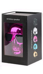 Phone Accessories Lux BLUETOOTH & WIRELESS SPEAKERS with retail box 2 TEAL Skull Bluetooth Speaker Wireless Compact Skull Head Portable speaker 8W NFC Audio Rechargeable Battery Music Player