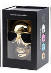 Phone Accessories Lux BLUETOOTH & WIRELESS SPEAKERS with retail box 3 TEAL Skull Bluetooth Speaker Wireless Compact Skull Head Portable speaker 8W NFC Audio Rechargeable Battery Music Player