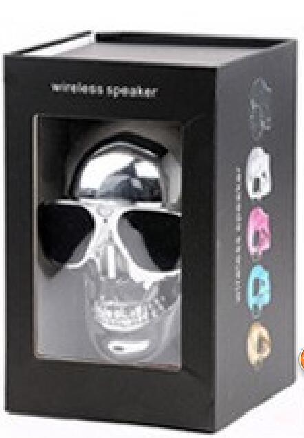 Phone Accessories Lux BLUETOOTH & WIRELESS SPEAKERS with retail box 4 TEAL Skull Bluetooth Speaker Wireless Compact Skull Head Portable speaker 8W NFC Audio Rechargeable Battery Music Player