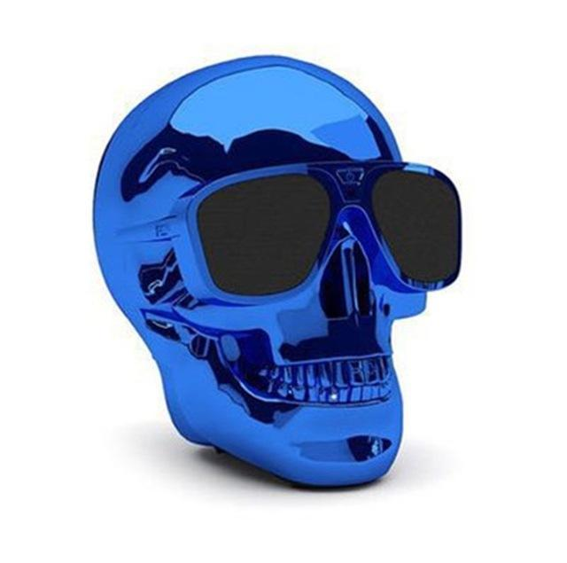 Phone Accessories Lux BLUETOOTH & WIRELESS SPEAKERS without package box 1 TEAL Skull Bluetooth Speaker Wireless Compact Skull Head Portable speaker 8W NFC Audio Rechargeable Battery Music Player