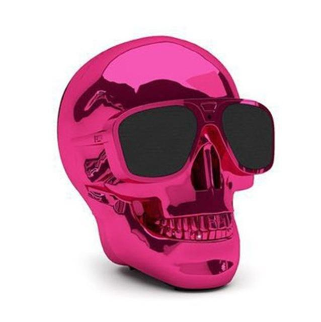 Phone Accessories Lux BLUETOOTH & WIRELESS SPEAKERS without package box 2 TEAL Skull Bluetooth Speaker Wireless Compact Skull Head Portable speaker 8W NFC Audio Rechargeable Battery Music Player