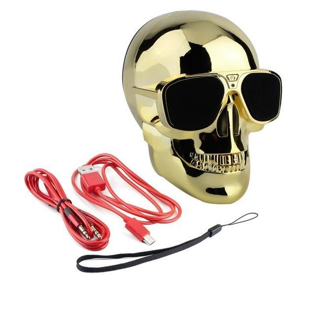 Phone Accessories Lux BLUETOOTH & WIRELESS SPEAKERS without package box 3 TEAL Skull Bluetooth Speaker Wireless Compact Skull Head Portable speaker 8W NFC Audio Rechargeable Battery Music Player