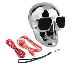 Phone Accessories Lux BLUETOOTH & WIRELESS SPEAKERS without package box 4 TEAL Skull Bluetooth Speaker Wireless Compact Skull Head Portable speaker 8W NFC Audio Rechargeable Battery Music Player