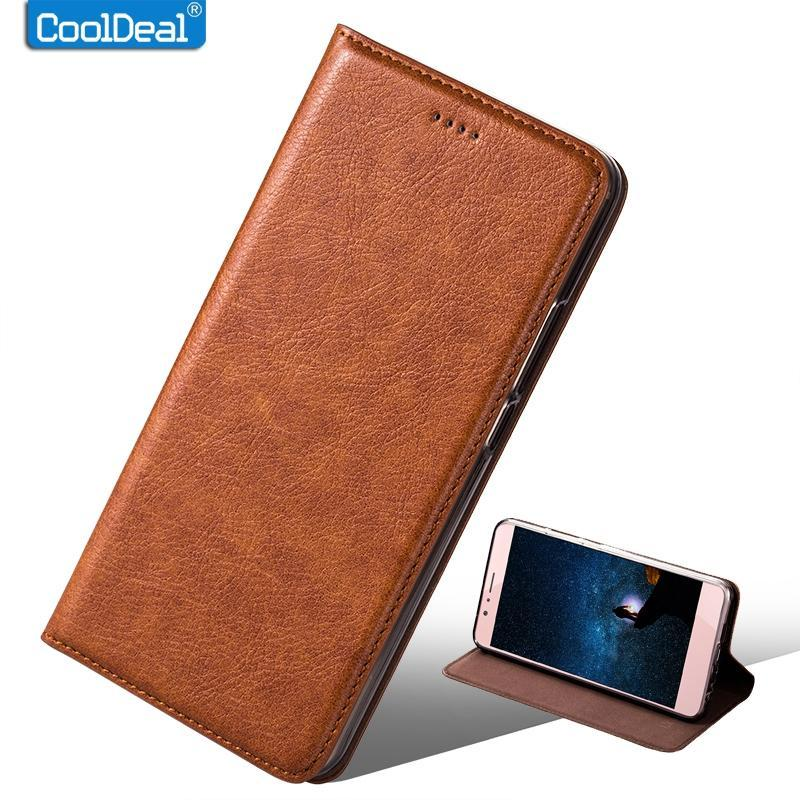 Phone Accessories Lux Case For Sony Xperia L2 Vintage Flip Leather Case For Sony Xperia L2 Dual - Luxury Retro Cover Leather Case & Kickstand Function