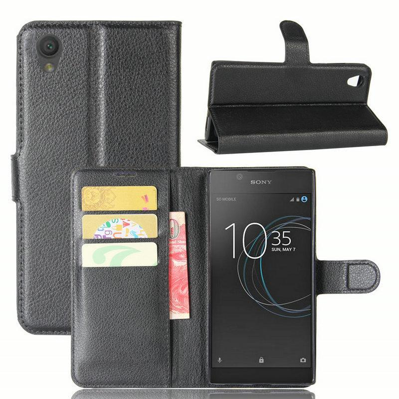Phone Accessories Lux Case For Sony Xperia L2 Wallet Flip Leather Case for Sony Xperia XZ1 Compact