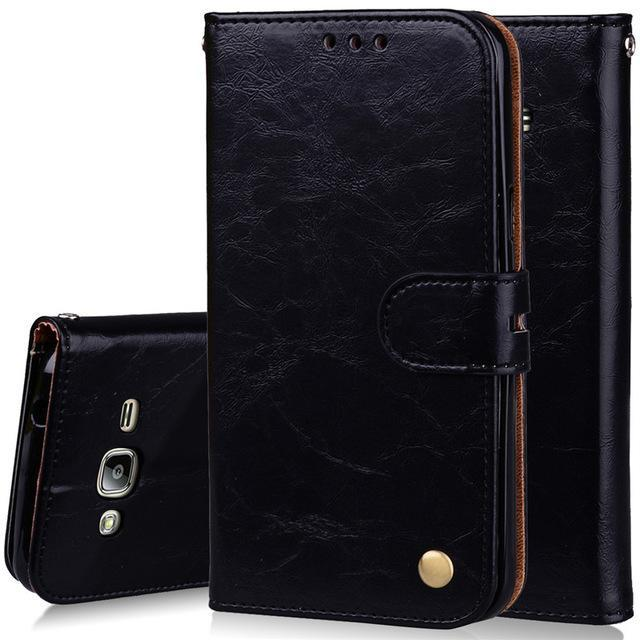 Phone Accessories Lux case Galaxy j3 Style 7 Flip Cover Case Luxury Leather For Samsung Galaxy J3