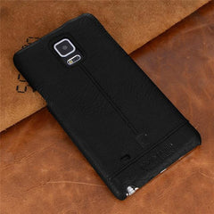Phone Accessories Lux CASE Galaxy note 5 Black / For  NOTE 4 Pierre Cardin Genuine Leather For Samsung Galaxy Note 4/Note 5/Note 7 Vintage Slim