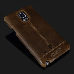 Phone Accessories Lux CASE Galaxy note 5 Brown / For  NOTE 4 Pierre Cardin Genuine Leather For Samsung Galaxy Note 4/Note 5/Note 7 Vintage Slim