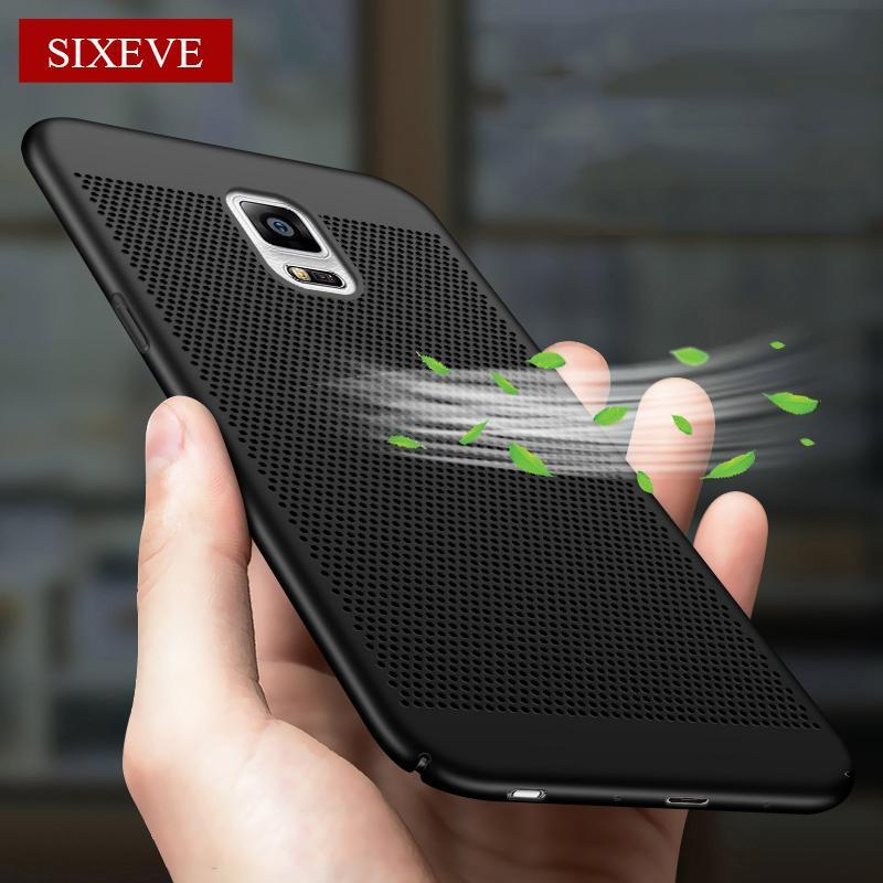 Phone Accessories Lux CASE Galaxy note 5 Matte Hard Plastic Slim Hollow Back Cover For Samsung Galaxy Note 5,3,4,8