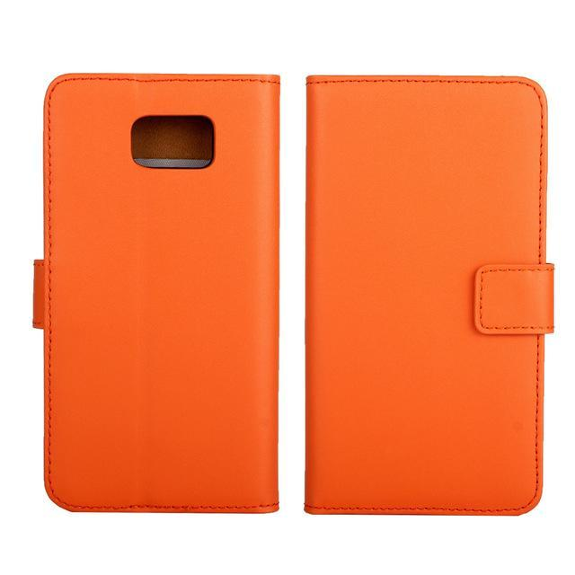 Phone Accessories Lux CASE Galaxy note 5 Orange / Only Case Leather Wallet Flip Case for Samsung Galaxy Note 5,Cash Holder
