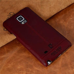 Phone Accessories Lux CASE Galaxy note 5 Red / For  NOTE 4 Pierre Cardin Genuine Leather For Samsung Galaxy Note 4/Note 5/Note 7 Vintage Slim