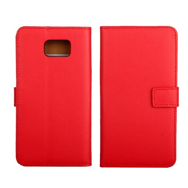 Phone Accessories Lux CASE Galaxy note 5 Red / Only Case Leather Wallet Flip Case for Samsung Galaxy Note 5,Cash Holder
