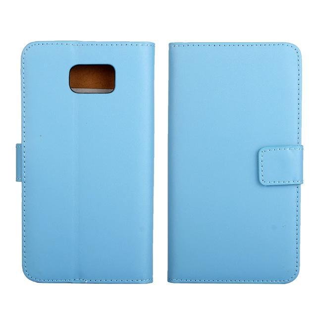 Phone Accessories Lux CASE Galaxy note 5 Sky Blue / Only Case Leather Wallet Flip Case for Samsung Galaxy Note 5,Cash Holder