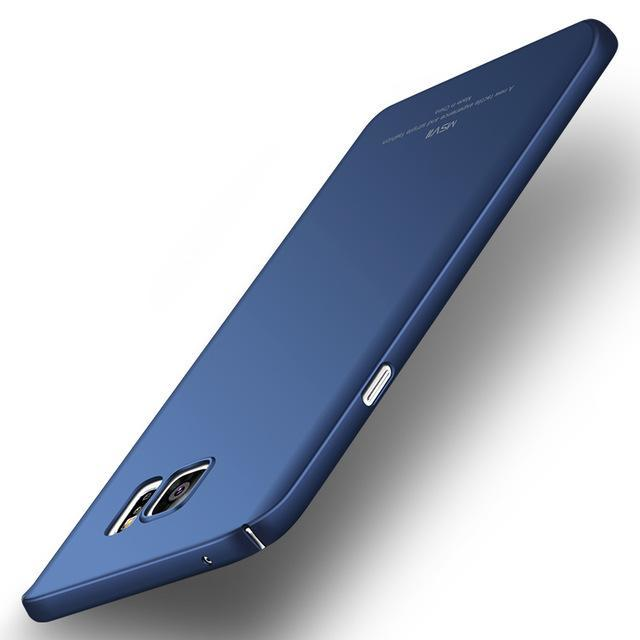 Phone Accessories Lux CASE Galaxy note 5 Smooth blue Luxury Ultra Slim Matte Cover For Samsung Galaxy Note 5