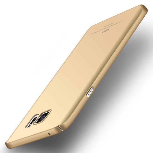 Phone Accessories Lux CASE Galaxy note 5 Smooth gold Luxury Ultra Slim Matte Cover For Samsung Galaxy Note 5
