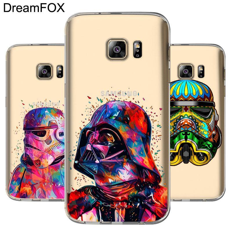 Phone Accessories Lux CASE Galaxy note 5 Star Wars Silicone Case Cover For Samsung Galaxy Note 3 4 5 8 S5 S6 S7 Edge S8 Plus