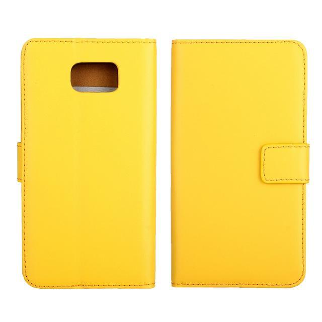 Phone Accessories Lux CASE Galaxy note 5 Yellow / Only Case Leather Wallet Flip Case for Samsung Galaxy Note 5,Cash Holder
