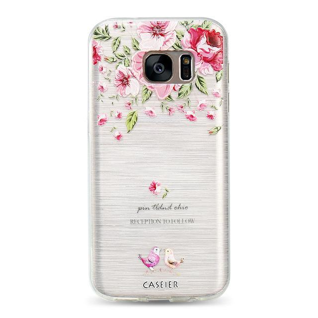 Phone Accessories Lux CASE Galaxy s6 edge plus Elegant flowers / For Samsung S6 3D Relief Phone Case For Samsung Galaxy S8,Galaxy Note 8,Galaxy S6 edge,Galaxy S8 Plus,Galaxy S7 Edge,Galaxy S7,Galaxy S6