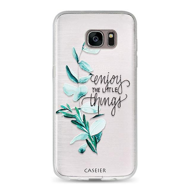 Phone Accessories Lux CASE Galaxy s6 edge plus Green leaves / For Samsung S6 3D Relief Phone Case For Samsung Galaxy S8,Galaxy Note 8,Galaxy S6 edge,Galaxy S8 Plus,Galaxy S7 Edge,Galaxy S7,Galaxy S6