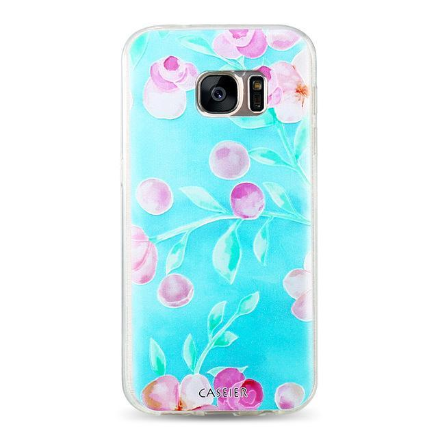 Phone Accessories Lux CASE Galaxy s6 edge plus Rose / For Samsung S6 3D Relief Phone Case For Samsung Galaxy S8,Galaxy Note 8,Galaxy S6 edge,Galaxy S8 Plus,Galaxy S7 Edge,Galaxy S7,Galaxy S6