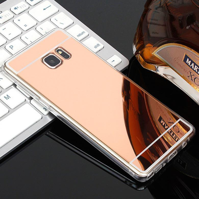 Phone Accessories Lux case Galaxy s7 Luxury Plating Mirror Case For Samsung Galaxy S7-S6 Edge-S5-S8-J5-J3 J7