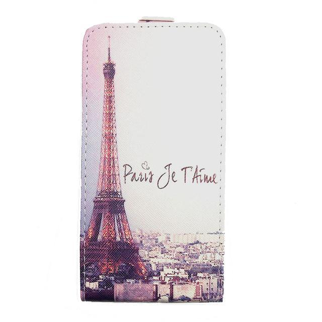 Phone Accessories Lux case Sony xperia r1 plus Beige / PU Cartoon Pattern Up and Down Flip PU Leather Case For Sony Xperia R1