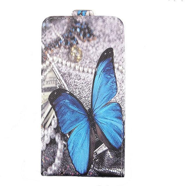 Phone Accessories Lux case Sony xperia r1 plus Blue / PU Cartoon Pattern Up and Down Flip PU Leather Case For Sony Xperia R1