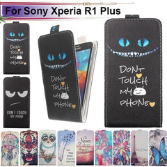 Phone Accessories Lux case Sony xperia r1 plus Cartoon Pattern Up and Down Flip PU Leather Case For Sony Xperia R1